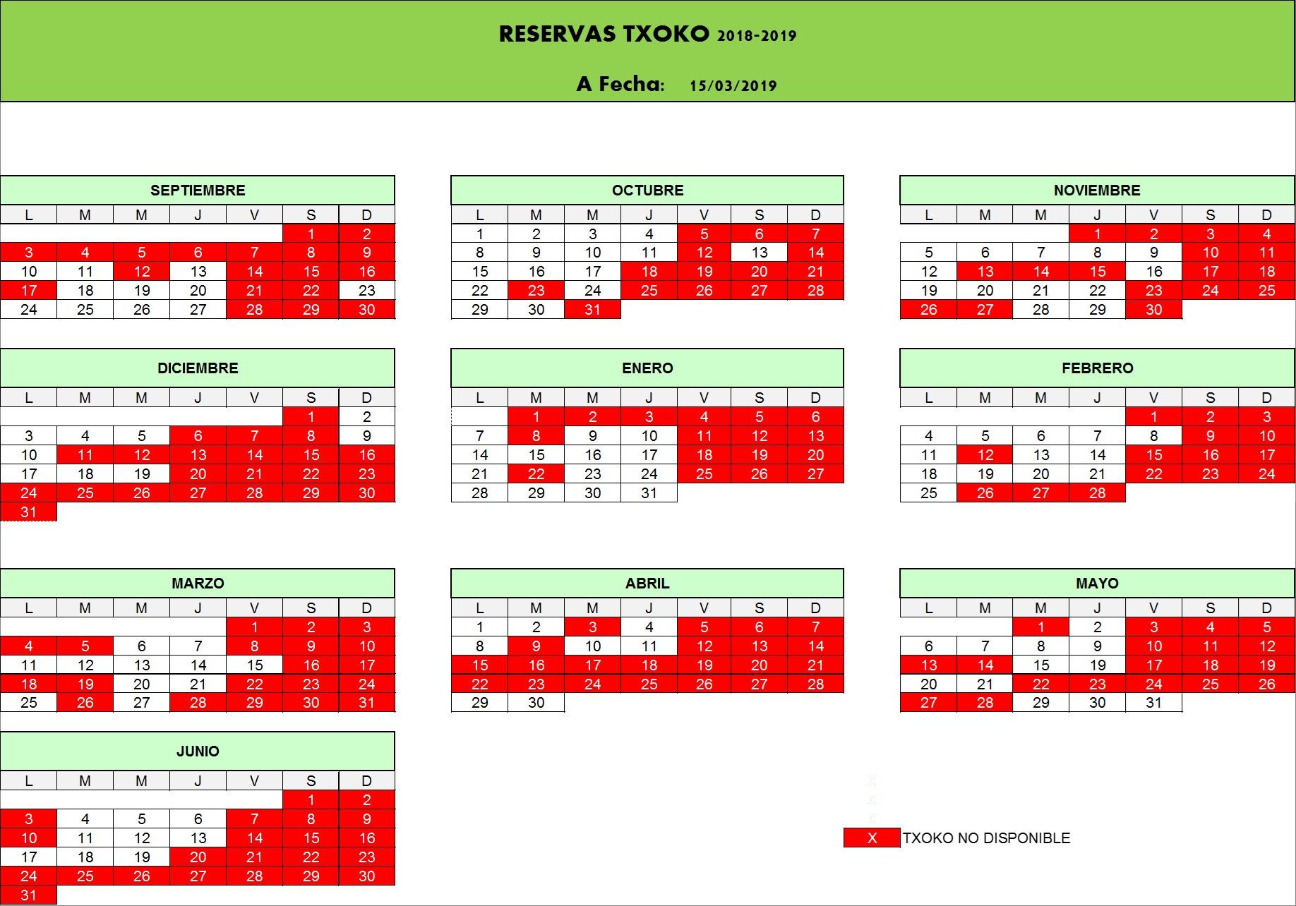 Calendario Deusto.Calendario 15 03 2019